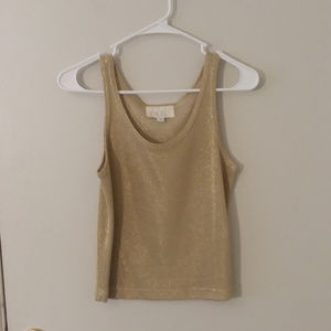 Vintage Cache Gold Shimmer Tank Top